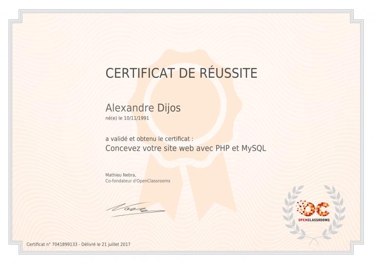 certificat_alexandre-dijos_concevez-votre-site-web-avec-php-et-mysql-1